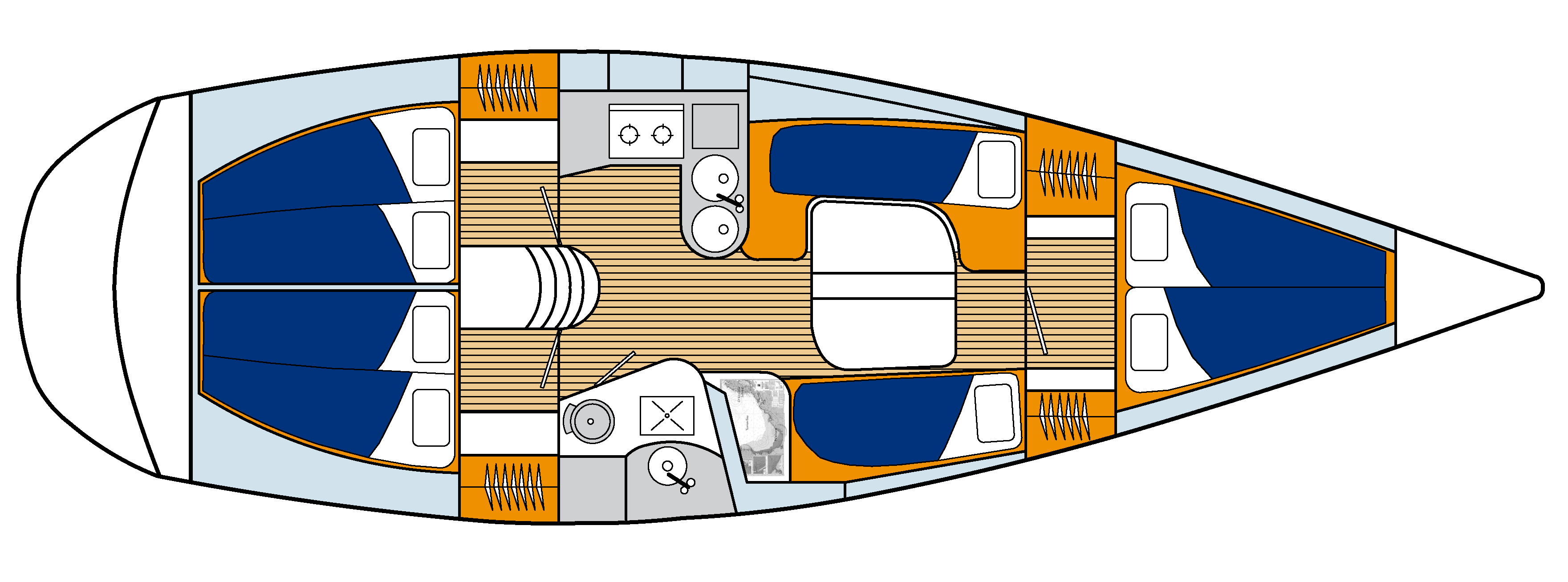 Breeze Yacht Internal Layout