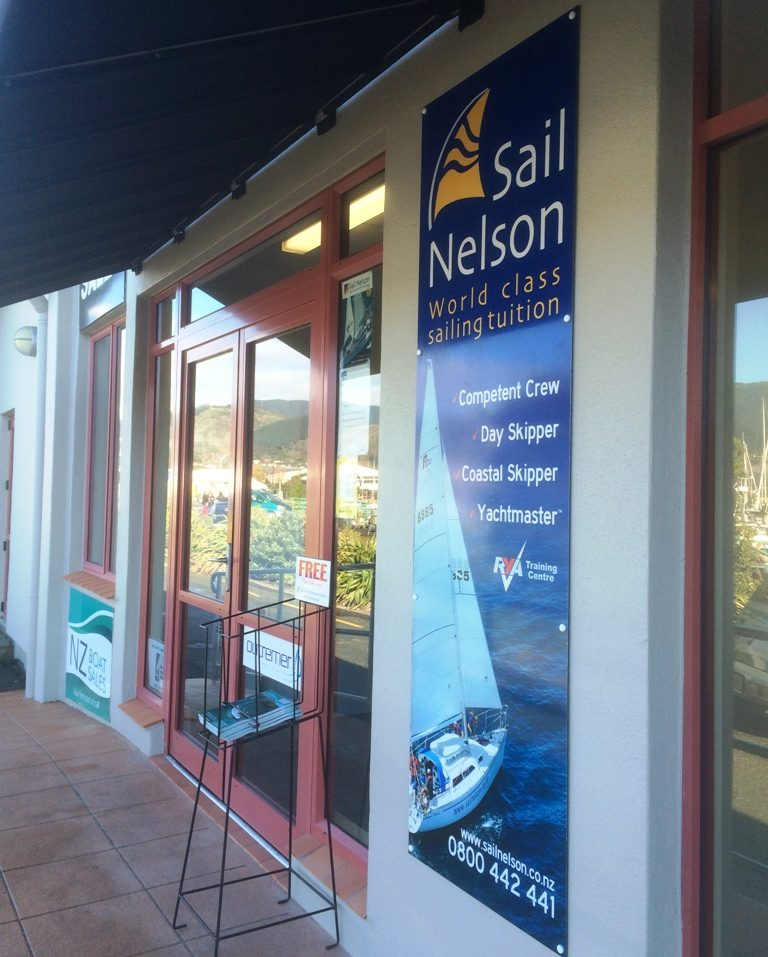 Sail Nelson Office at NZ Boat Sales, Vickerman St, Nelson, NZ